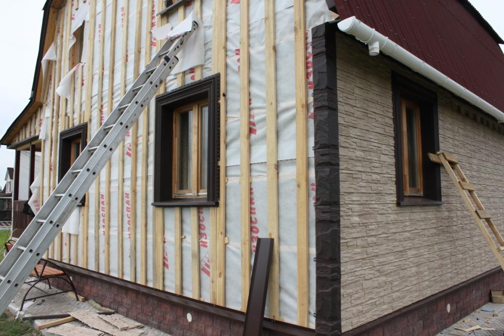 Облицовка дома панелями фасад своими руками