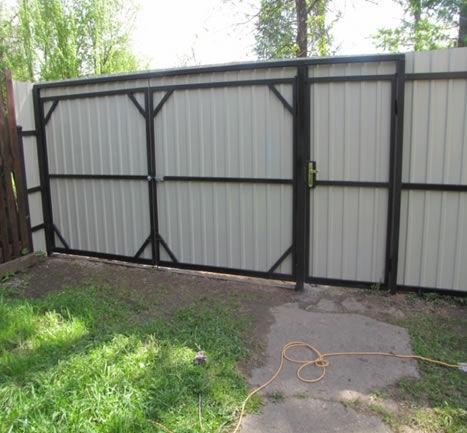 Ворота забор из профлиста